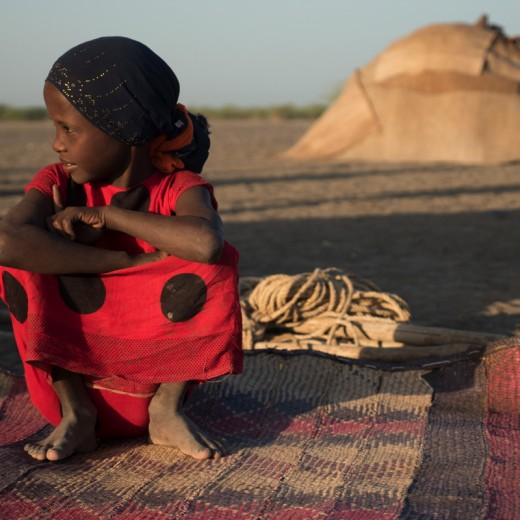 Eine Zeltschule für die Kinder der Afar-Nomaden